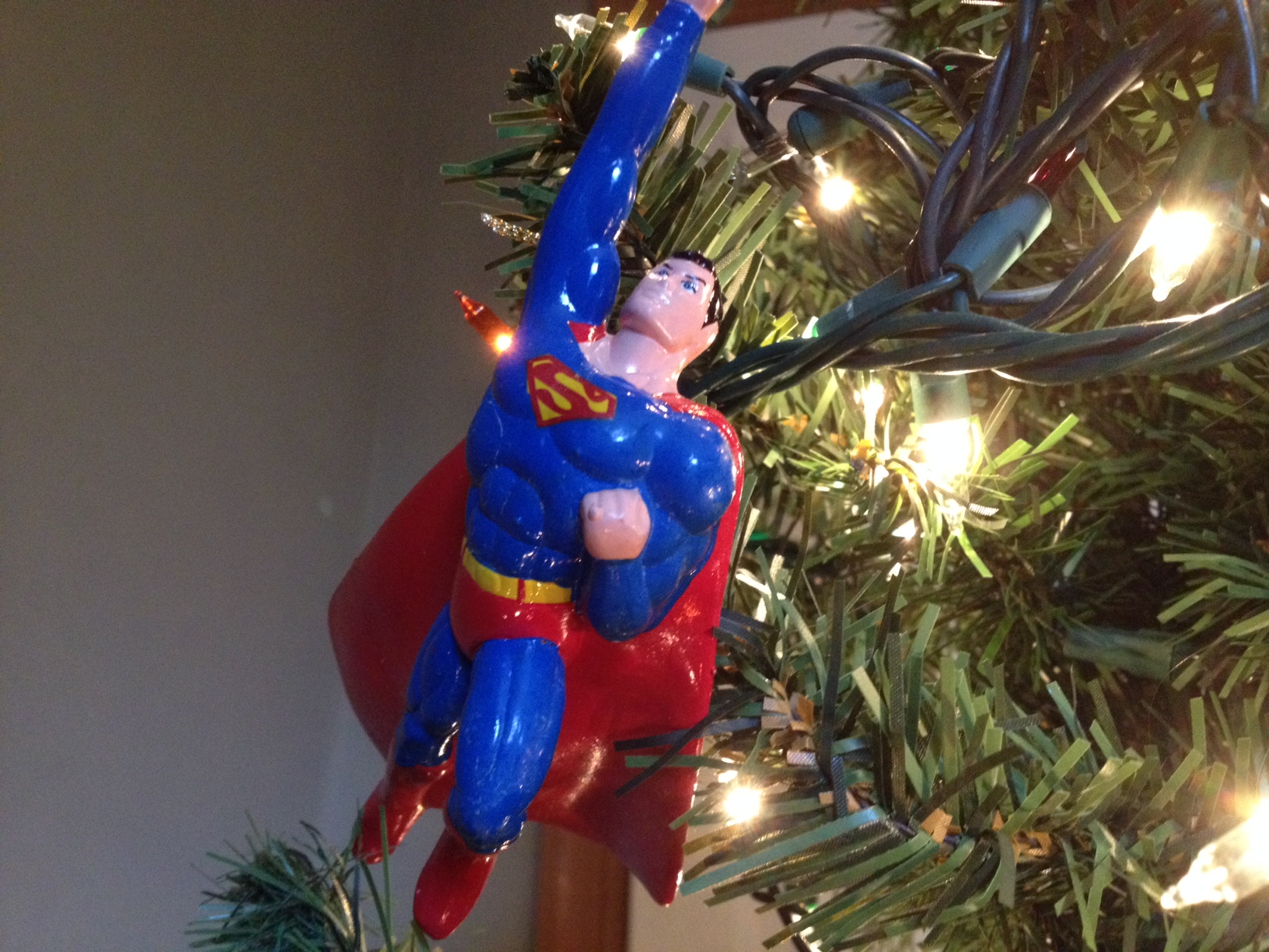 Batman christmas tree ornaments - I Like Batman And I Have Superman Hanging From My Christmas Tree But I Just Watched The Latest Trailer For Batman V Superman Dawn Of Justice